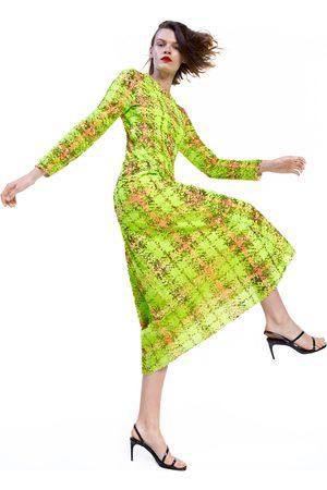 Zara Robe à carreaux et à paillettes édition limitée