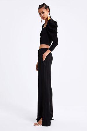 Zara Pantalon large à rayures