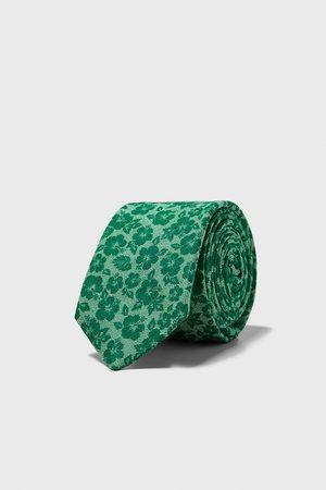 Zara Cravate slim à fleurs