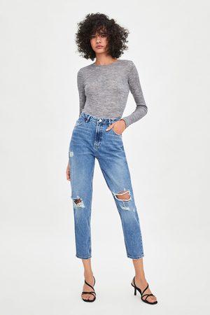 Zara Jean taille haute classique mom fit