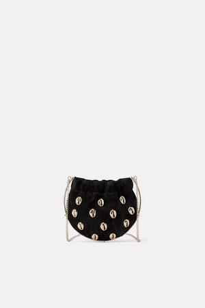 Zara Mini sac bandoulière en cuir avec coquillages