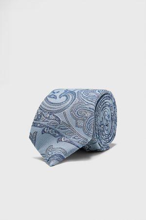 Zara Cravate large en jacquard à imprimé cachemire