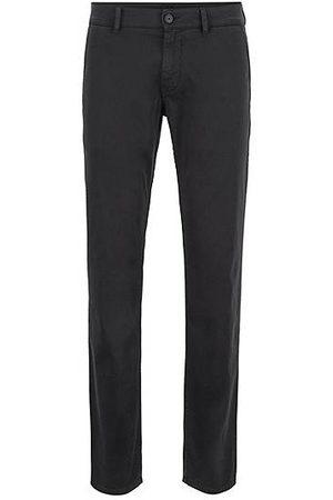 HUGO BOSS Chino casual Slim Fit en coton stretch brossé