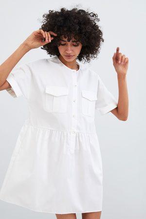 Zara Poplin dress with pockets
