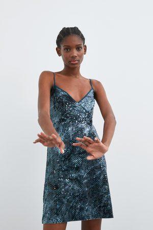 Zara Robe à paillettes tie & dye