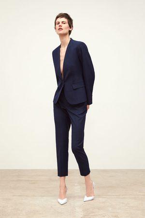 Zara Pantalon cigarette à carreaux