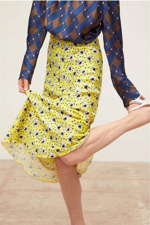Zara Floral print long skirt