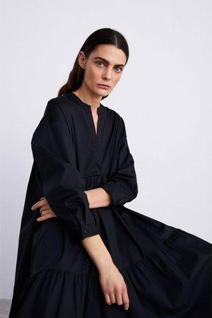 Zara Robe longue en popeline