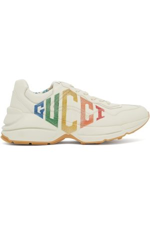 Gucci Baskets basses en cuir à logo Rhyton