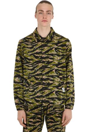 OAKLEY TNP Tnp Camo Print Cotton Blend Coach Jacket