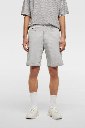 Zara Homme Bermudas - Short structuré avec contraste