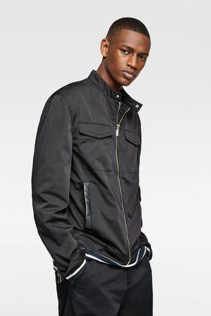 Zara Homme Vestes en cuir - Blouson en cuir synthétique