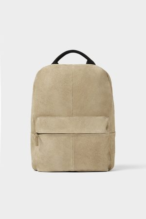 Zara Homme Soft leather backpack