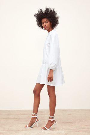Zara Robe en popeline à plis