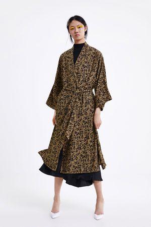 Zara Femme Trench-coats - Trench fluide à imprimé animalier