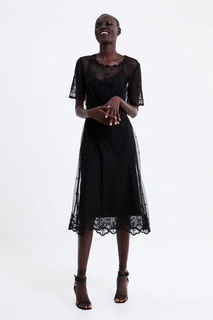 Zara Femme Robes - Robe en dentelle