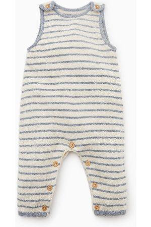 Zara Bébé Pulls en maille - Striped knit jumpsuit