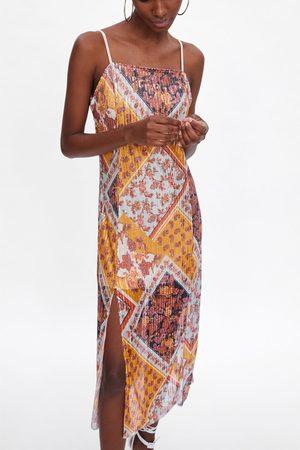Zara Robe imprimée à paillettes