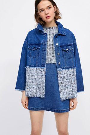 Zara Veste en jean avec tweed