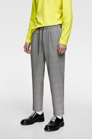 Zara Pantalon style jogging à taille élastique à carreaux