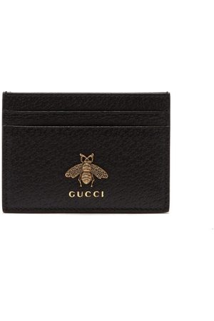 Gucci Porte-cartes en cuir à ornement abeille