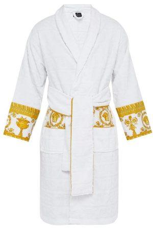 VERSACE Peignoir en coton à jacquard logo I Love Baroque