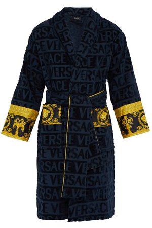 VERSACE Homme Peignoirs - Peignoir coton à logo en jacquard I Love Baroque