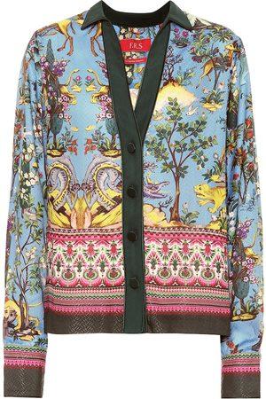 F.R.S For Restless Sleepers Chemise de pyjama Anaideia imprimée en soie mélangée