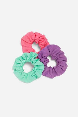 Zara Pack of 3 plain scrunchies