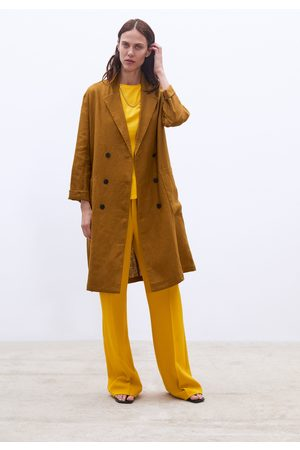 Zara Manteau long en lin