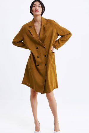 Zara Femme Manteaux longs - Manteau long en lin