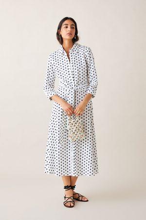 Zara Femme Robes longues - Robe longue à pois
