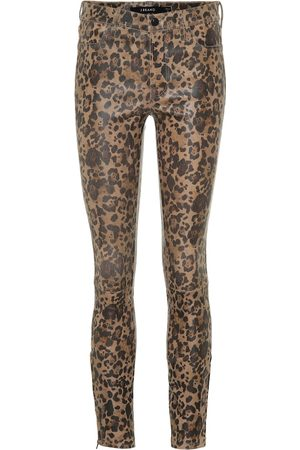 J Brand Femme Pantalons en cuir - Pantalon skinny L8001 imprimé en cuir