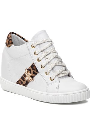 R. Polański Sneakers R.POLAŃSKI - 0959 Biały Lico Pantera