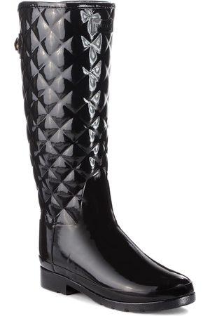 Hunter Bottes de pluie - Original Refined Quilted Gloss WFT1031RGL Black
