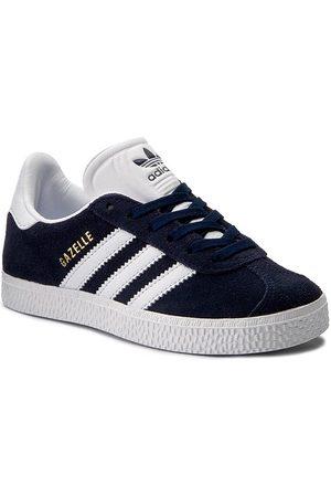 adidas Garçon Chaussures à lacets - Chaussures adidas - Gazelle C BY9162 Conavy/Ftwwht/Ftwwht