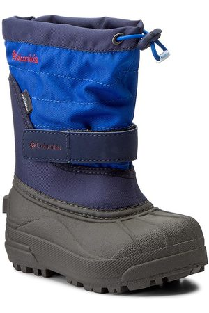Columbia Bottes de neige - Childrens Powderbug Plus II BC1326 Collegiate Navy/Chili 464