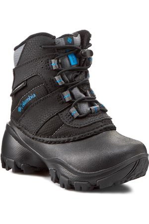 Columbia Chaussures de trekking - Childrens Rope Tow III Waterproof BC1322 Black/Dark Compass 010