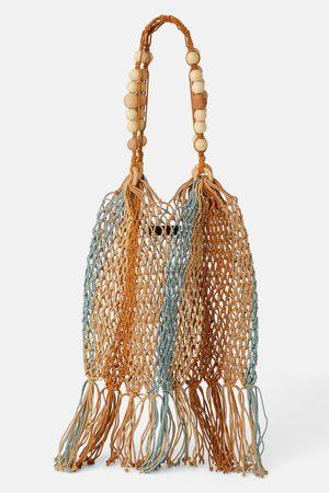 Zara Sac seau en corde naturelle