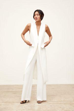 Zara Gilet sans manches long à fentes