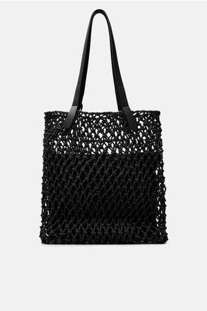 Zara Shopper tissé à nœuds