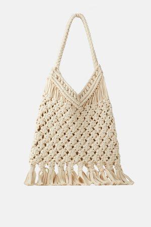 Zara Sac shopper en crochet