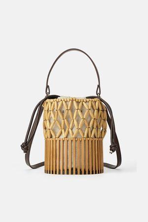 Zara Mini sac panier avec pièces naturel