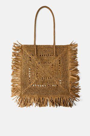 Zara Femme Cabas - Sac shopper xxl naturel