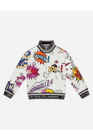 Dolce & Gabbana T-Shirts et Sweatshirts - SWEAT-SHIRT ZIPPÉ EN JERSEY IMPRIMÉ