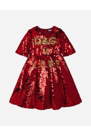 Dolce & Gabbana Fille Robes - Robes - ROBE À PAILLETTES BRODÉE