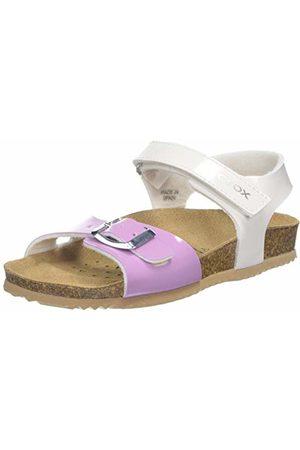 Geox Fille Sandales - J New Sandal Aloha Girl Bout Ouvert Fille, (White/Lilac C0761), 32 EU