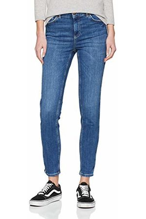 Pieces Pcdelly DLX Skinny MW Crop Piping Mb207 Jean Femme, Medium Blue Denim, W33 (Taille Fabricant: X-Large)