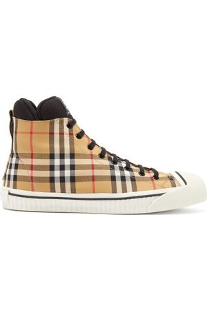 2011c4ce062 Burberry Baskets montantes en toile Vintage check Kilbourne