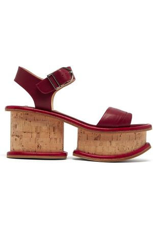 GABRIELA HEARST Sandales à plateforme en cuir et liège Harrigan